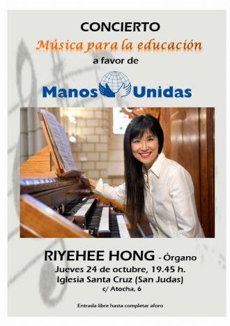 """Cartel del concierto """"Música para la Educación"""" a beneficio de Manos Unidas"""