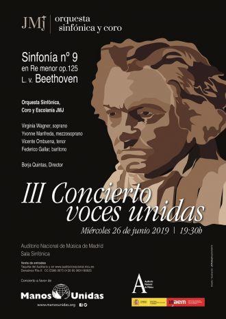 Cartel de III Concierto Voces Unidas de la Orquesta de la JMJ