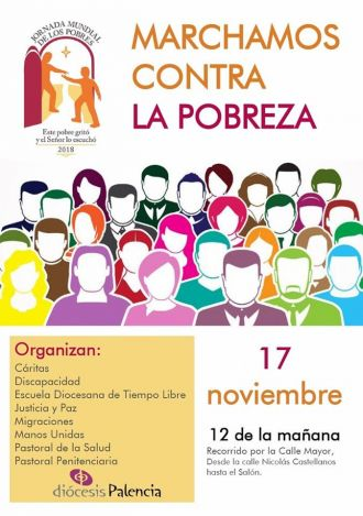 Marcha solidaria por la pobreza. Palencia