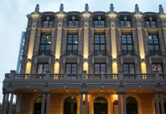 Encendido de la fachada del Teatro Jofre de Ferrol