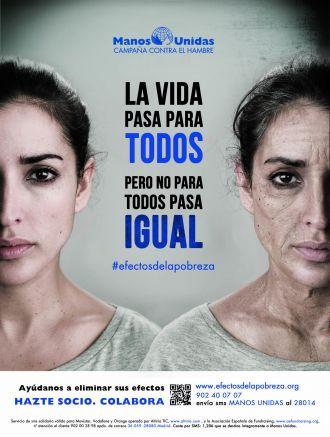 """Cartel de la campaña """"Efectos de la Pobreza"""" (2013/14)"""