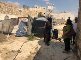 Acceso al agua y saneamiento para mujeres marginadas en Palestina. Foto: Manos Unidas