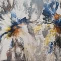 Creación Floral. 60 x 120 cm. Arte Solidario. Manos Unidas Valencia