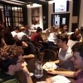 Cena del hambre en el Colegio Mayor Roncesvalles de Pamplona