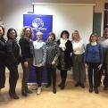 Equipo de trabajo de Manos Unidas de Pego con su delegada comarcal.
