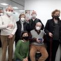 Los compañeros de Manos Unidas Valencia acompañando a Ángel Árdid el día de su despedida.