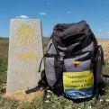 Su mochila a llevado el mensaje de la solidaridad por los 1.400 km recorridos.