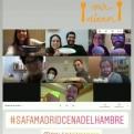 Cartel de la Cena del Hambre 2021 en el colegio SAFA de Madrid