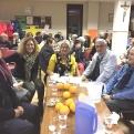 Cena del Hambre en la delegación comarcal de Pego, donde acudió la delegada y el vicedelegado de Manos Unidas Valencia junto con el misionero.