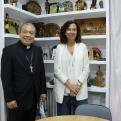 El Nuncio Apostólico visita Manos Unidas. Foto: Manos Unidas/Javier Mármol