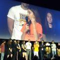 Alumnos en la gala clipmetrajes