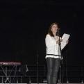 El público entusiasmado participó en el concierto