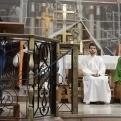 Diana Torres, en el púlpito de la Parroquia de Sant Vicenç de Sarrià
