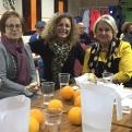 Ana Ruiz Ruiz, delegada de Manos Unidas Valencia junto con las compañeras de Pego.