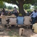 Reunión con la comunidad rural de Kangrin para presentar el proyecto a toda la población