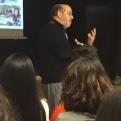 El misionero Miquel Cubeles en la escuela IES Torre Palau