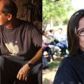 Juan Pablo López Mendía y Marta Machain, invitados especiales de esta campaña de Manos Unidas. Fotos, Diego Ruiz y Marta Isabel González
