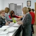 Las organizadoras han trabajado con gran ilusión para la celebración de esta primera cena del hambre.