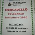 Cartel anunciando el Mercadillo Solidario