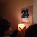Dos niños enciende la llama de las 24 Horas de Manos Unidas en Pamplona