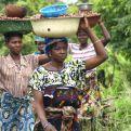 Mujeres africanas transportando karité