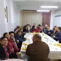 Cena del Hambre en la parroquia de San Dionisio y San Pancracio. Manos Unidas Valencia.
