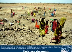 El hambre se combate con acceso al agua