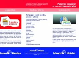 Triptico de Exposiciones y Charlas de Manos Unidas (1ª página)
