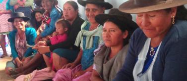 Familias de la región de Achatalas, Bolivia.