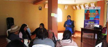 Cerrando brechas de género para la disminución de violencia contra mujeres en Perú. Foto: Manos Unidas