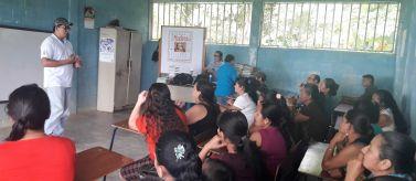Socialización en El Tamarindo. Foto: Manos Unidas
