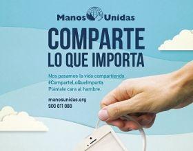 """Cartel de la Campaña 59 de Manos Unidas """"Comparte lo que Importa"""""""