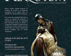 Cartel del concierto de Cuaresma de Manos Unidas 2019