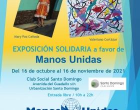 Cartel Exposición Solidaria del Club Social Santo Domingo a favor de Manos Unidas