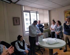 Homenaje a Gregorio por su tarea como Delegado de Manos Unidas Madrid
