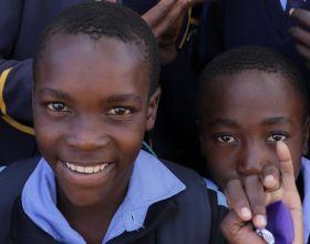 Grupo de estudiante de Zimbaue