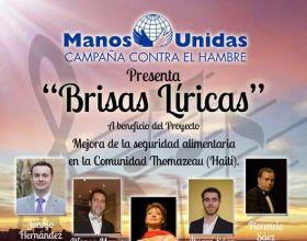 Brisas Líricas, concierto solidario en beneficio de los proyectos de Manos Unidas