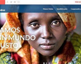 Portada nueva web de Manos Unidas