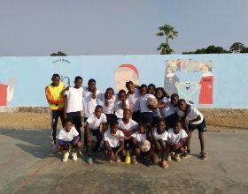Escuela deportiva de la Fundación Real Madrid en Angola