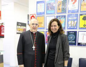 D. Carlos Osoro con Clara Pardo, presidenta de Manos Unidas. Foto: Manos Unidas/Irene H-Sanjuán.