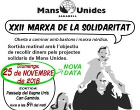 Marcha organizada para recaudar fondos para Manos Unidas