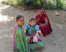 El 55% de la mortalidad infantil  de esta zona de India se debe a problemas relacionados con la desnutrición.