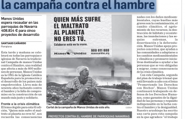 La Iglesia se vuelca en la campaña contra el hambre en Diario de Navarra