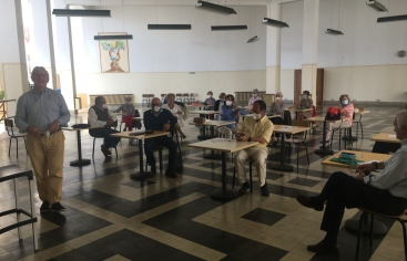Presentación de nuevos voluntarios en la delegación de Pamplona de Manos Unidas