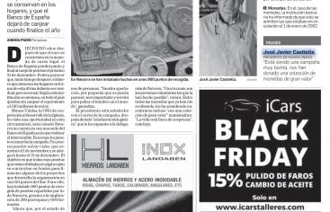 La peseta solidaria de Manos Unidas en el Diario de Navarra
