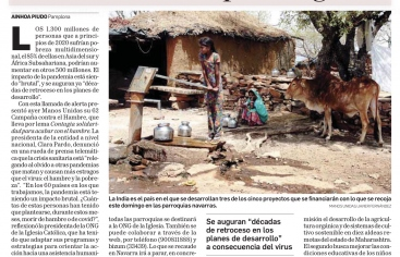 Diario de Navarra nos recuerda 'Solidaridad local para lo global' con motivo de la campaña de Manos Unidas