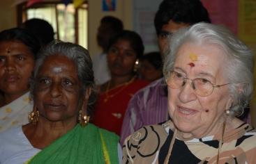 Caridad Rosa en la India. Foto Mª Eugenia Diaz/Manos Unidas