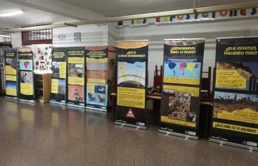 Exposición de Manos Unidas en el IES Severo Ochoa de Alcobendas
