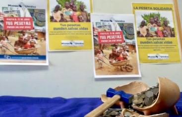 """Campaña """"Tus pesetas pueden salvar vidas"""" de Manos Unidas"""