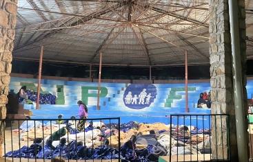 Albergue para damnificados por el terremoto de Haití. Foto:NPH
